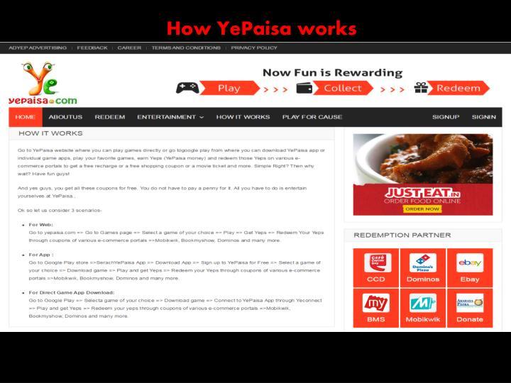 How YePaisa works