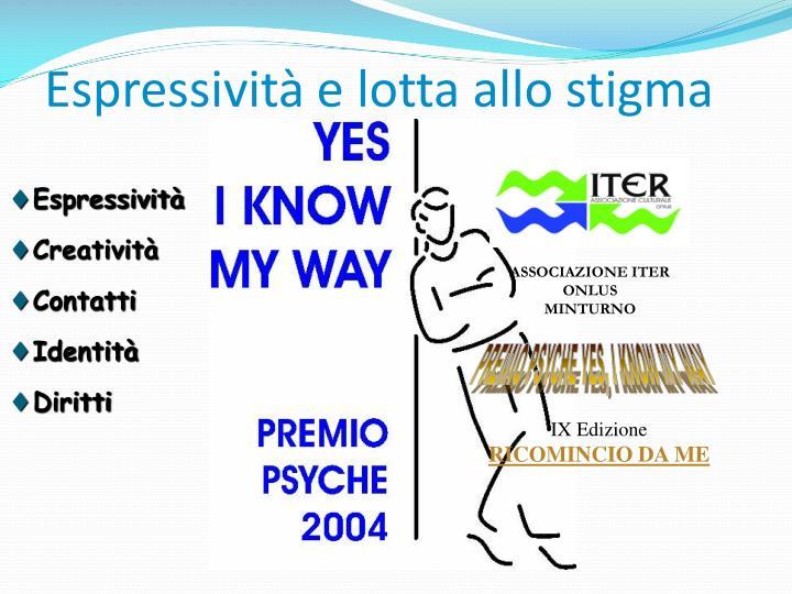 Espressività e lotta allo stigma