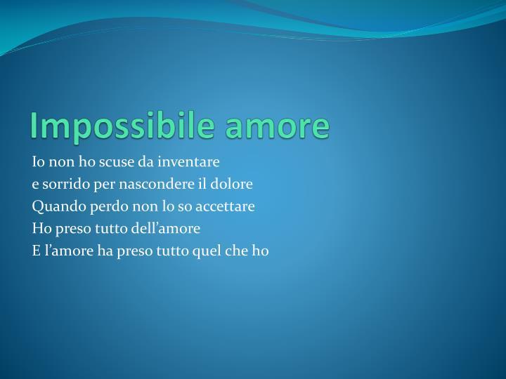 Impossibile amore