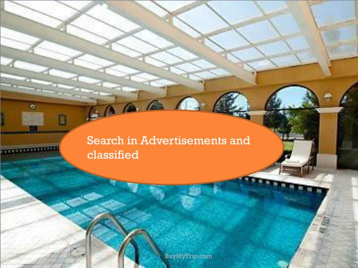Search in Advertisements and classified