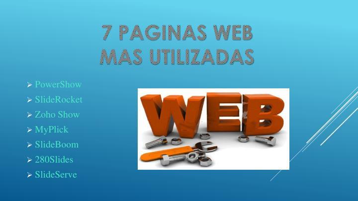 7 PAGINAS WEB