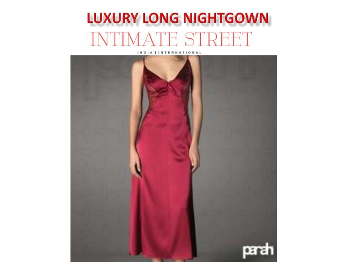 Luxury Long Nightgown