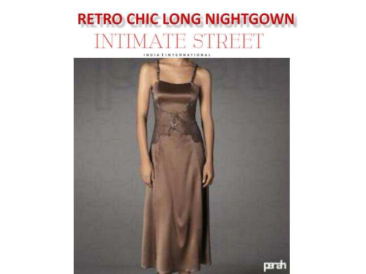 Retro Chic Long Nightgown