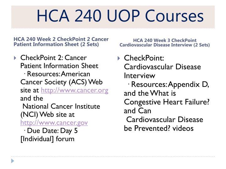 HCA 240 UOP