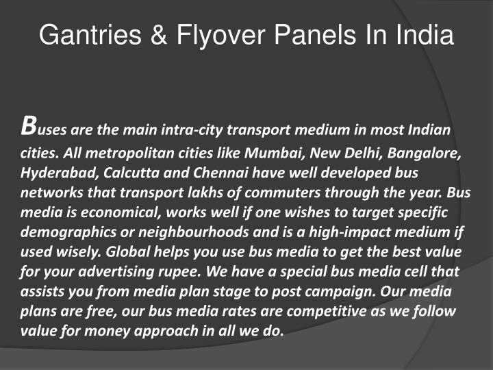 Gantries & Flyover Panels In India