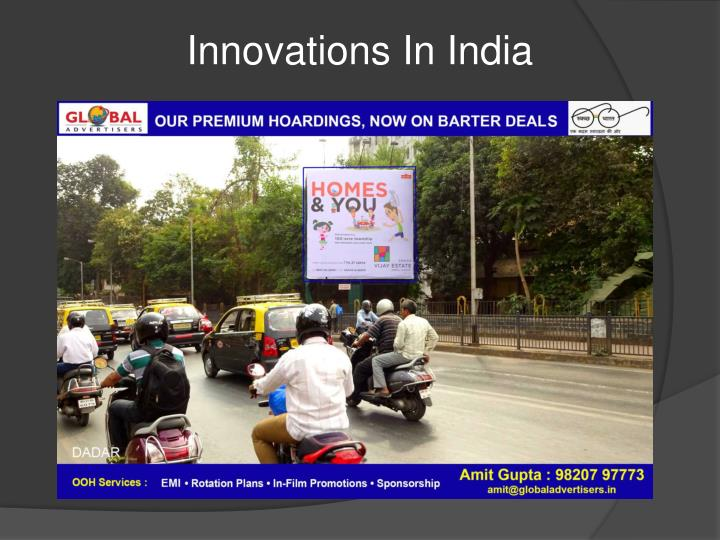 Innovations In India
