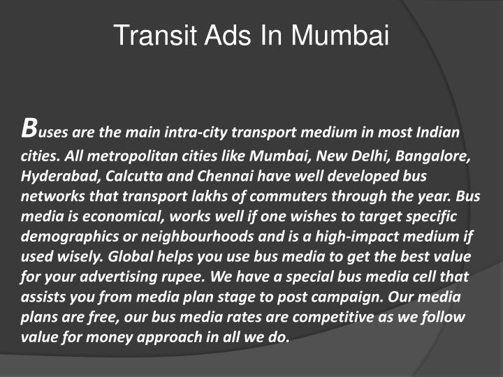 Transit Ads In Mumbai