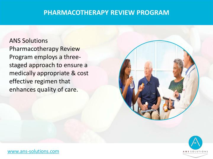 PHARMACOTHERAPY REVIEW PROGRAM