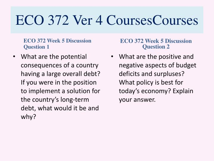 Eco 372 international trade and finance speech