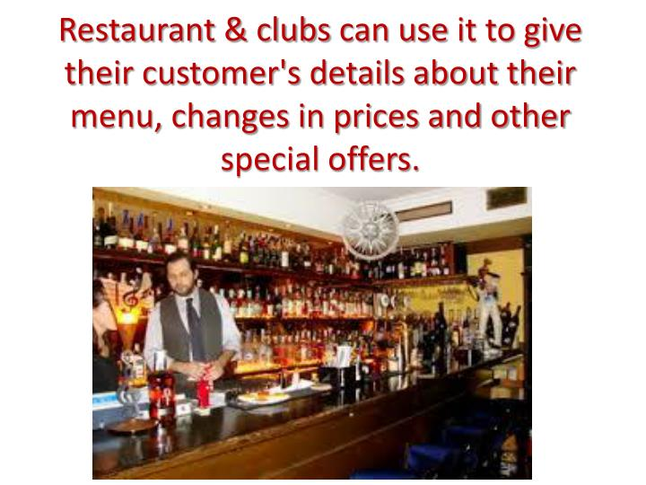 Restaurant & clubs