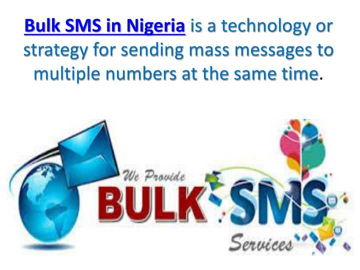 Bulk SMS in Nigeria