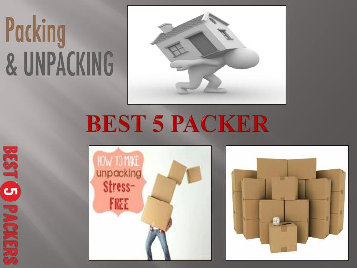 Best 5 packers and movers