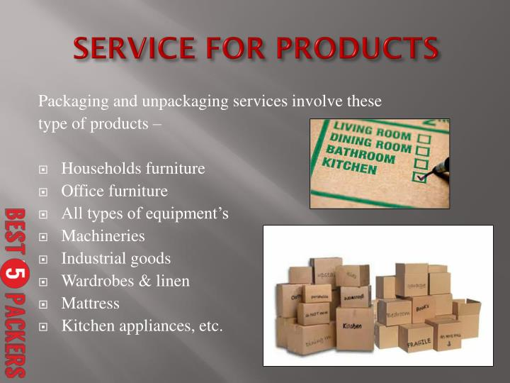 Packaging and unpackaging services involve these