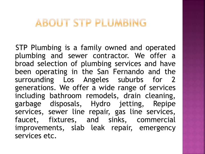 About STP Plumbing