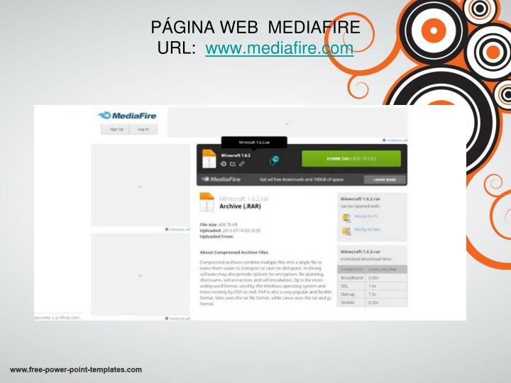 PÁGINA WEB  MEDIAFIRE
