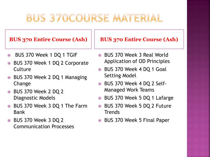 Bus 370course material