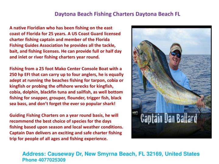 Daytona Beach Fishing Charters Daytona Beach FL