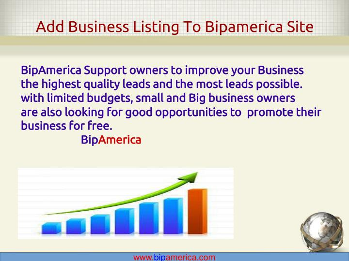 Add Business Listing To Bipamerica Site