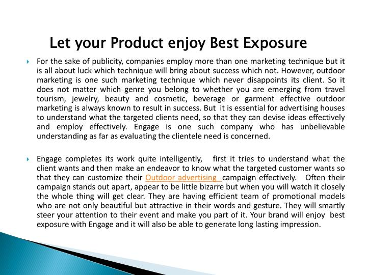 Let your Product enjoy Best Exposure