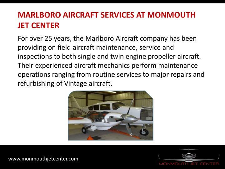 MARLBORO AIRCRAFT SERVICES AT MONMOUTH