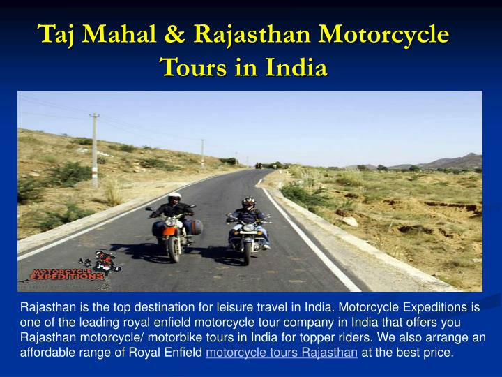 Taj Mahal & Rajasthan Motorcycle Tours in India