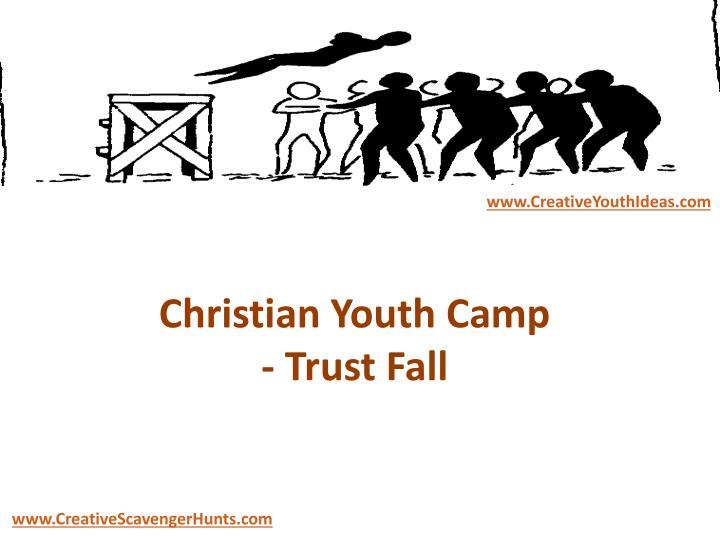 Christian youth camp trust fall