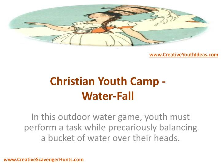 Christian youth camp water fall