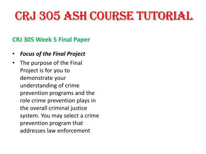 CRJ 305 ASH COURSE TUTORIAL