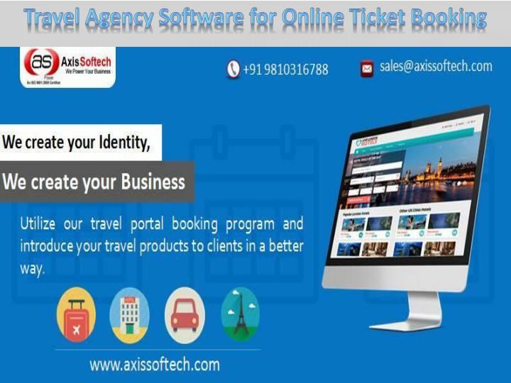Travel Agency Software for Online Ticket Booking