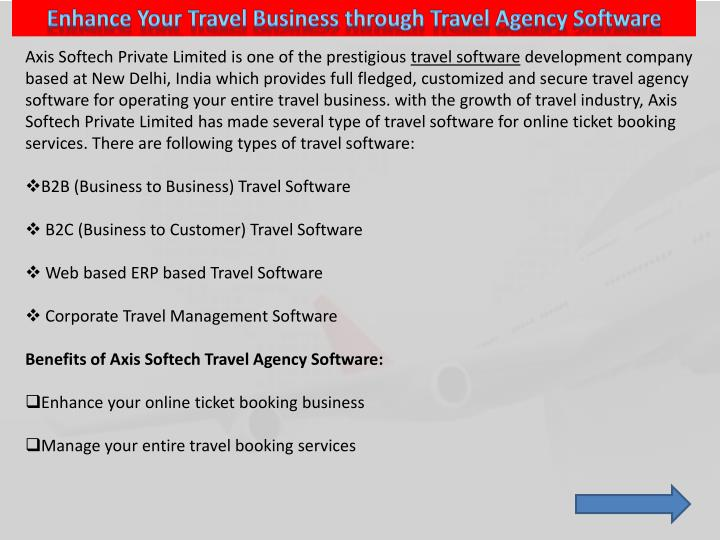 Enhance Your Travel Business through Travel Agency Software
