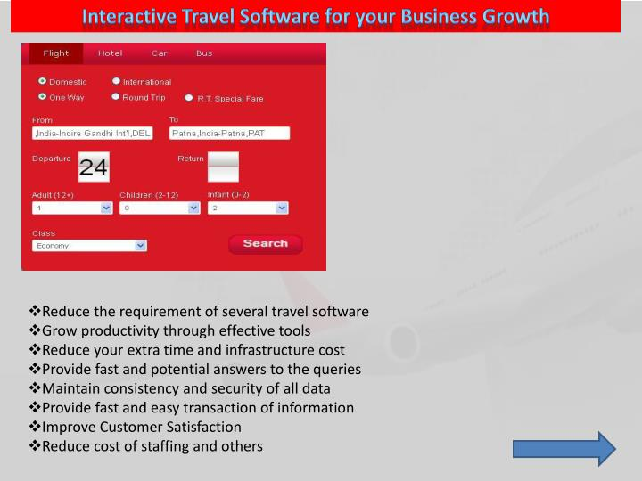Interactive Travel Software for your Business Growth