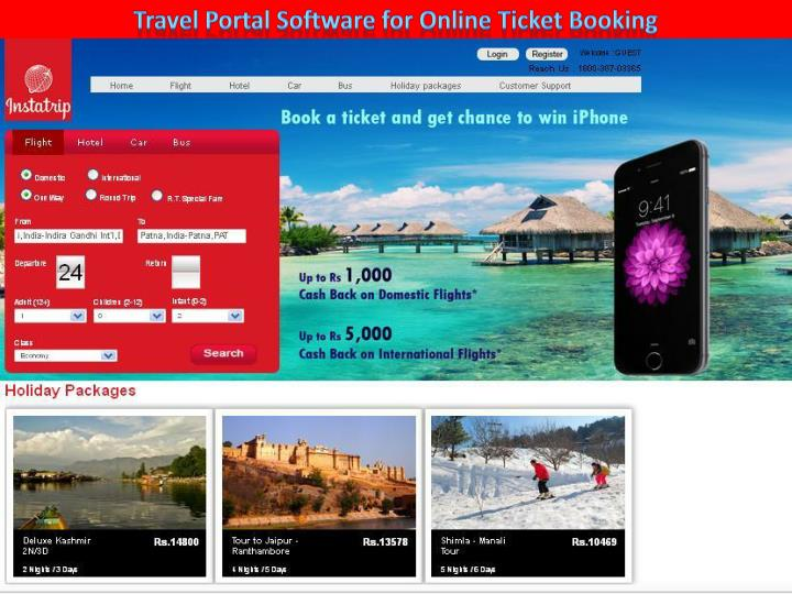 Travel Portal Software for Online Ticket Booking