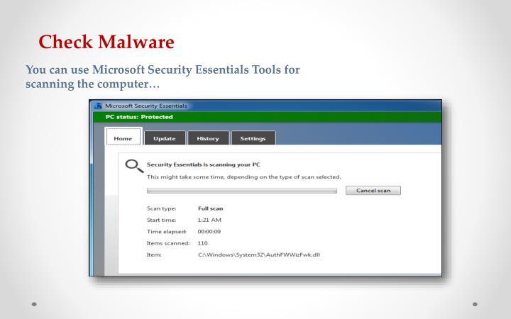 Check Malware