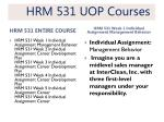 hrm 531 uop courses1