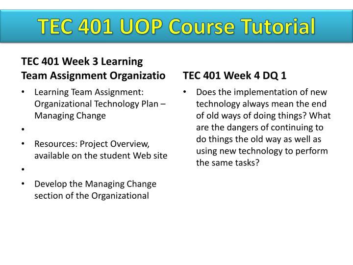 TEC 401 UOP
