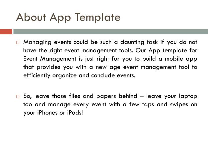 About app template