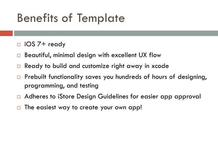 Benefits of Template