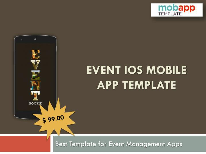 Event ios mobile app template