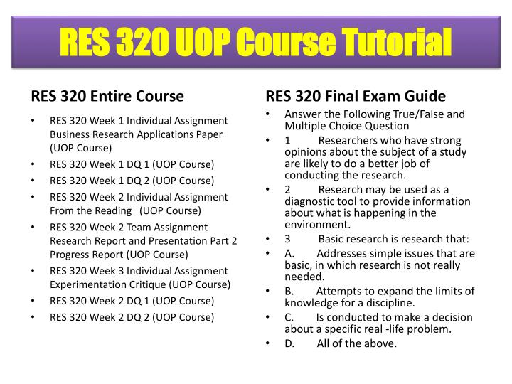 RES 320