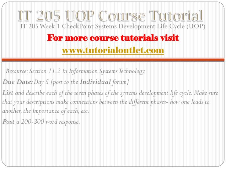 It 205 uop course tutorial1