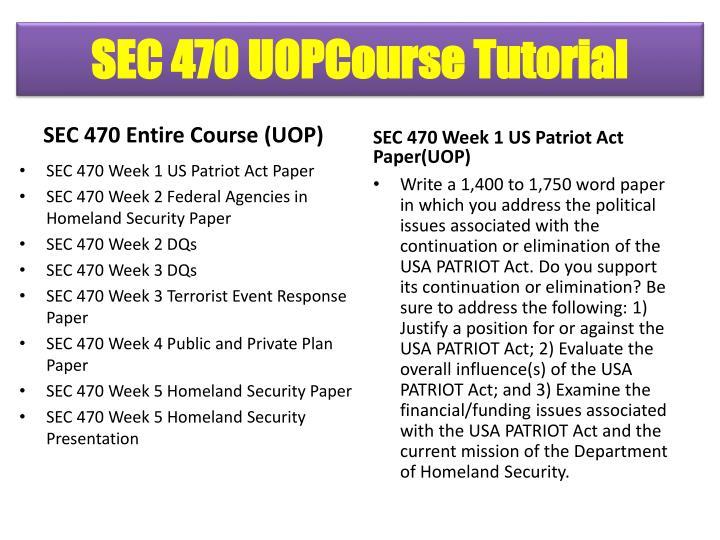 SEC 470