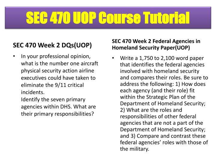 SEC 470 UOP