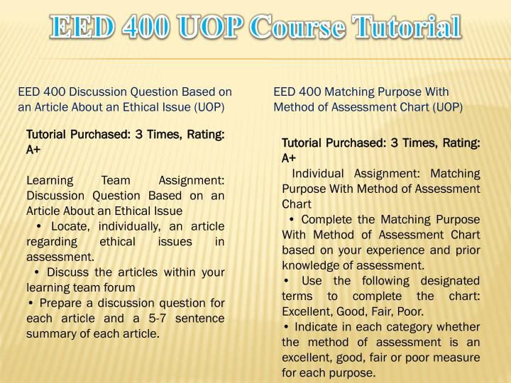 EED 400 Entire Course