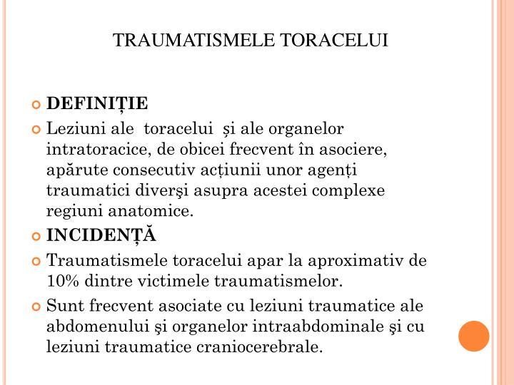 TRAUMATISMELE TORACELUI