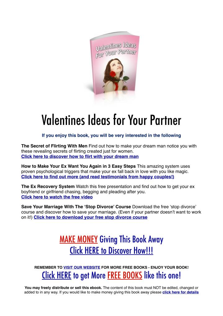 Valentines Ideas for Your Partner