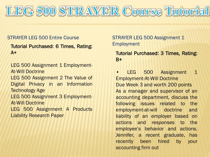 Leg 500 strayer course tutorial