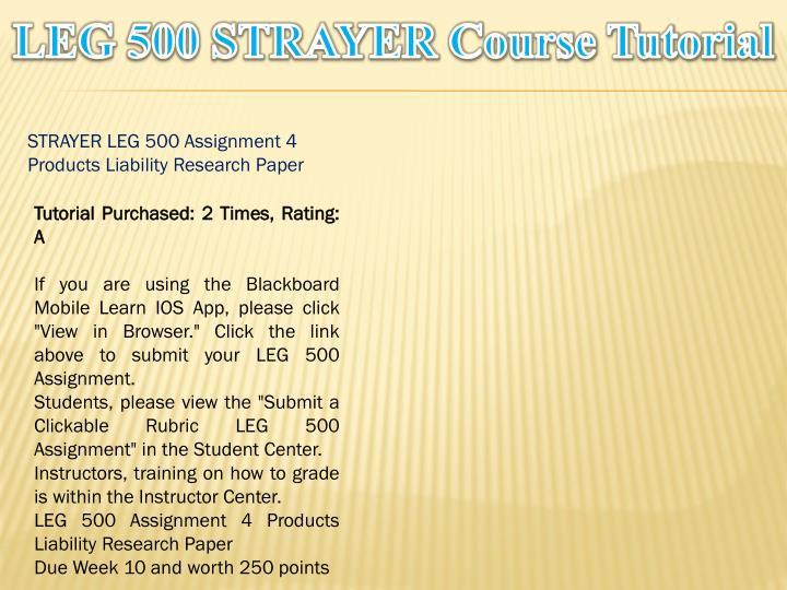 LEG 500 STRAYER