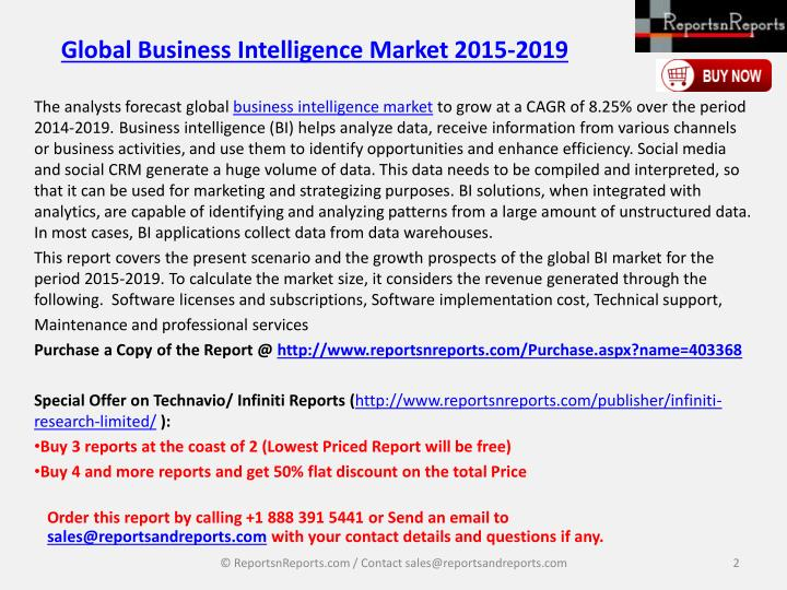 Global business intelligence market 2015 20191
