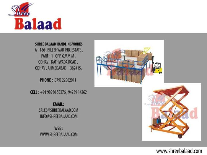 Hydraulic stacker material handling and lift equipment