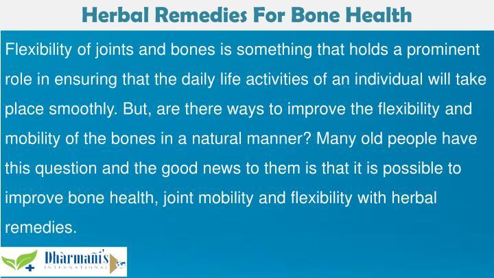 Herbal Remedies For Bone Health